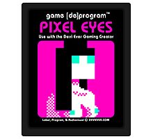 Pixel Eyes Atari Cartridge Photographic Print