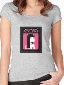 Pixel Eyes Atari Cartridge Women's Fitted Scoop T-Shirt