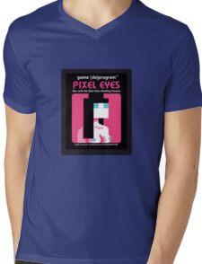 Pixel Eyes Atari Cartridge Mens V-Neck T-Shirt