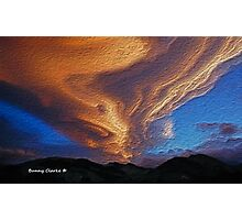 Clouds:  As The Day Ends Photographic Print
