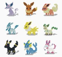 Eevee Evolution Pixel Pokemon by SteampunkStein