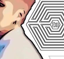 Exo Overdose Xiumin - White  Sticker