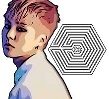 Exo Overdose Xiumin - White  by kpoplace
