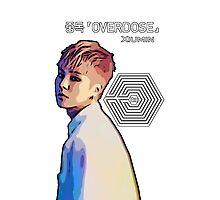 Exo Overdose Xiumin - White  Photographic Print