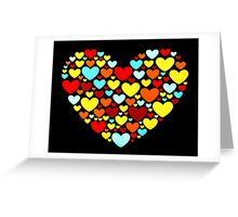 Abstract Hearts Shape Greeting Card