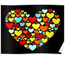 Abstract Hearts Shape Poster