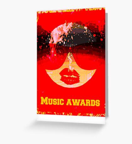 music awards Greeting Card