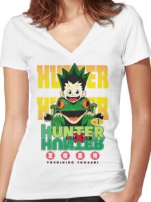 Hunter x Hunter manga Women's Fitted V-Neck T-Shirt