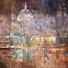 Illuminated City - Palace Reflection by Ballet Dance-Artist