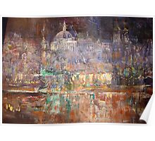 Illuminated City - Palace Reflection Poster