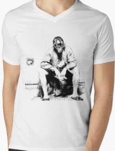 Big Lebowski Thinking Mens V-Neck T-Shirt
