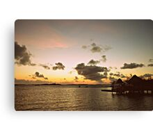An Old Time Sunrise In The Beautiful Exumas, Bahamas Canvas Print