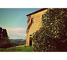 Rustic and Whimsicle Architecture in the Tuscan Countryside of Italy Photographic Print