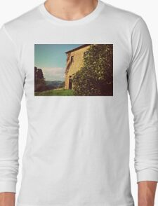 Rustic and Whimsicle Architecture in the Tuscan Countryside of Italy Long Sleeve T-Shirt