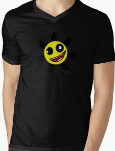 Herp Derp Sun Face Shirt Mens V-Neck T-Shirt