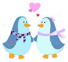 Penguin Love by ShyBunny
