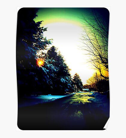Wintry Road - Bursting Poster
