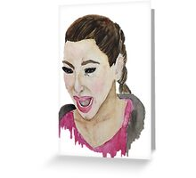 Kim Kardashian Crying Greeting Card