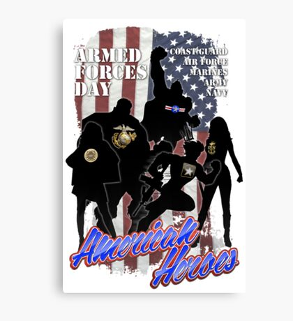 Armed Forces Day - American Heroes Canvas Print