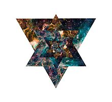 Trippy Triangle Galaxy Phone Case by Krigare
