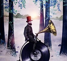 Music man in the forest by Viviana Gonzalez