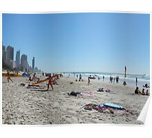 Surfers Paradise from Broadbeach Beach Easter Monday Poster