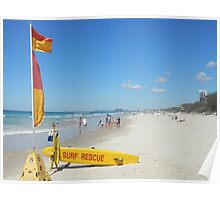 Surf Rescue Easter Monday Poster