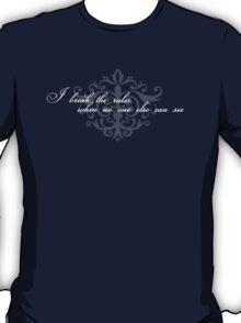 Respectably Rebellious (white text) T-Shirt