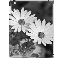 White on Black iPad Case/Skin