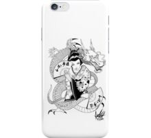 geisha dragon iPhone Case/Skin