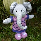 Hand knitted Girl Elephant by mrsmcvitty