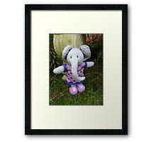Hand knitted Girl Elephant Framed Print