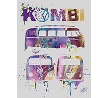 Volkswagen Kombi 3 Way (faded) © Photographic Print