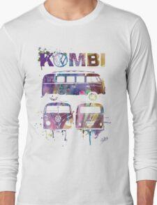 Volkswagen Kombi 3 Way (faded) © Long Sleeve T-Shirt