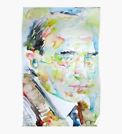 ROBERT MUSIL - watercolor portrait Poster