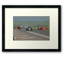 Motor Sports Mishap Framed Print