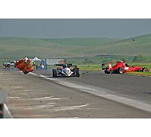 Motor Sports Mishap Photographic Print