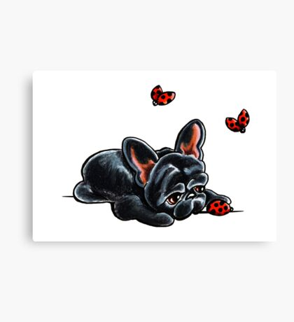 French Bulldog Ladybug Canvas Print