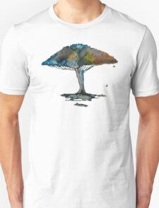 Colored tree in a tranquil breeze Unisex T-Shirt