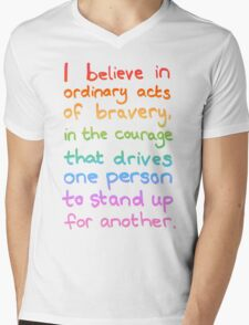 Ordinary Acts of Bravery - Divergent Quote  Mens V-Neck T-Shirt