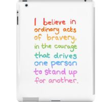 Ordinary Acts of Bravery - Divergent Quote  iPad Case/Skin