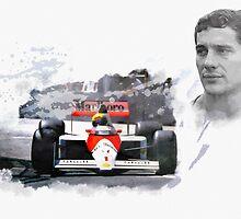 Ayrton Senna Genius by Lightrace