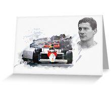 Ayrton Senna Genius Greeting Card