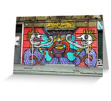 All About Italy. Piece 1 - Genoa Street Art Greeting Card