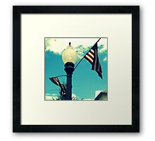 Hip Red, White, and Blue Skies Framed Print