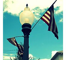 Hip Red, White, and Blue Skies Photographic Print