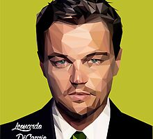 Leonardo DiCaprio Triangulation Vector by Red82Creative