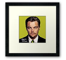 Leonardo DiCaprio Triangulation Vector Framed Print