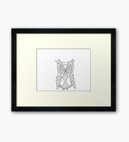 Black and White Owl Framed Print