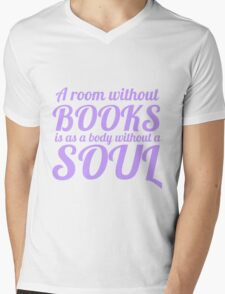 A Room Without Books Mens V-Neck T-Shirt